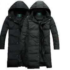 M-4XL Casual Mens winter Duck Down Long Parka Jacket Coat Hooded Thick Outwear @