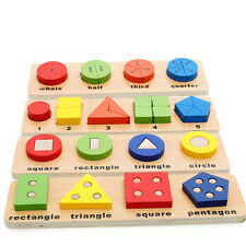 1 Set Geometric Sorting Board Educational Wooden Toy Building Blocks Kids Toy to