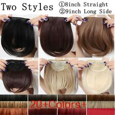 Real Thick Straight Side Bang Clip in on Fringe Hair Extensions Hairpiece T12
