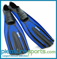 Mares Avanti Superchannel Full Foot Fin Scuba Diving Snorkeling Mens Womens BLUE