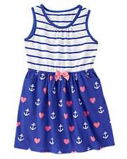 NWT Gymboree Girls Hop N Roll Hearts and Anchors Dress Size  5 6 7 8 10 & 12