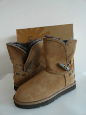 "NEW WOMENS UGG AUSTRALIA ""MEADOW"" SHEARLING-LINED SUEDE BOOTS CHESTNUT $250+"
