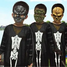 2pc Boys KIds Halloween Party Fancy Dress Up Cosplay Cloth Costume + Mask Set