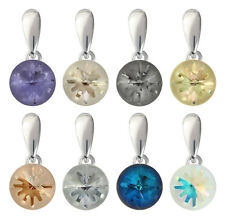 Sterling Silver Sea Urchin Pendants with SWAROVSKI 1695 10mm Crystals