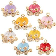 Candy Color Pumpkin Carriage Charm DIY Keychain Part DIY Necklace Anklet Pendant