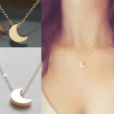 Fashion Crescent Moon Women Silver Gold Chain Delicate Pendant Necklace Jewelry