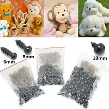 100PCS 6/8/10mm Plastic Safety Toy Black Eyes DIY For Teddy Bear/Dolls /Felting