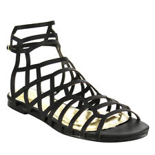 Beston DB88 Women's Cut Out Buckle Strap Gladiator Flat Ankle Sandals