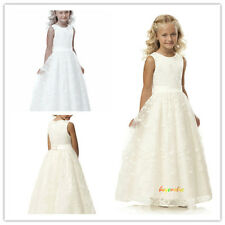 Formal Lace Baby Princess Bridesmaid Flower Girl Dresses Wedding Party Custom