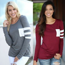 Fashion Women Ladies Casual Loose Tops Long Sleeve T-shirt Summer Blouse New