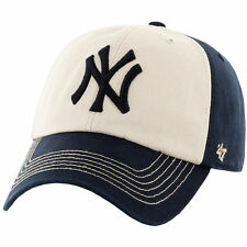 New York Yankees '47 Hodson Team Color Franchise Fitted Hat - Cream/Navy