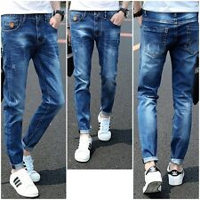 Classic Fashion Men Designed Straight Slim Fit Pants Denim Jeans Trousers Skinny