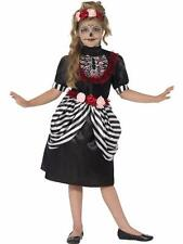 Smiffy's Childs Sugar Skull Halloween Costume Small Medium Large Available