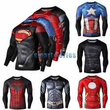 Compression Marvel Superhero Slim Men's T-Shirts Sports Fitness Bicycle Jersey