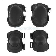 4Pcs Military Tactical Protective Gear Climbing Sports Elbow Knee Pads Set