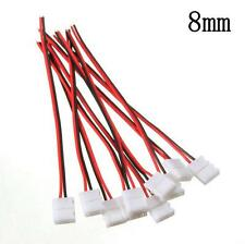Fashion 10PC PCB Cable 2 Pin LED Strip Connector Single Color Adapter 3528/5050