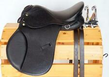 "12"" 13"" 14"" BLACK EngLish SaddLe HuNt JuMp All PurPoSe Leather-48"" Stirrups MINI"