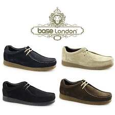 Base London GENESIS Mens Suede Leather Lace Up Casual Comfy Moccasin Shoes