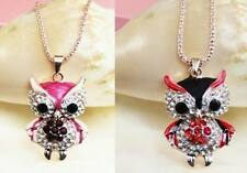 New fashion lovely plating 14k night owl necklace Christmas gift k234-235