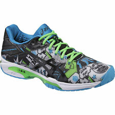 MEN'S ASICS GEL SOLUTION SPEED 3 TENNIS SHOES (WHITE/BLACK/GECKO GREEN) NYC