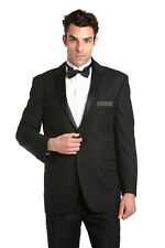 CONCITOR Men's Tuxedo Jacket Separate Coat Solid BLACK Color Two Button Tux