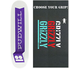 PLAN B Skateboard Deck TOREY PUDWILL FOLD 8.12' with GRIZZLY GRIPTAPE