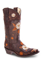 Womens Vintage Brown Cowgirl Western Leather Boot REDHAWK 37012 Size 5-10 (B, M)