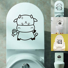 Funny Toilet Seat Wall Sticker Decals Art Wallpaper Removable Bathroom Decor DIY