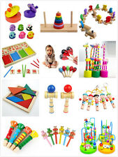 Wooden Puzzle Toy Baby Child Infant Educational Inspired Train Giraffe Hooter WF