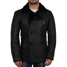 Brandslock Men's 100% Genuine Sheepskin Leather Slim Fit Aviator Flying Jackets