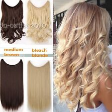 Real Thick Hairpiece Long Hidden Wire Hair Extensions Extension human Fovored F3
