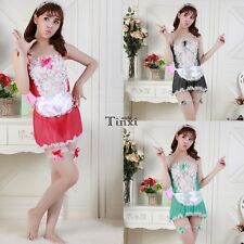 Women Sexy Sleepwear Chemise Babydoll Lingerie Nightie Dress G-string Underwear