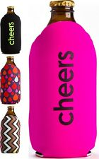 Stubby Holder Coolers Stubbie Cooler Bottle Holder Beer Can Pink Black Neoprene