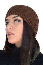 Womens Alpaca Wool Handknit Beanie Hat Winter Skullcap - Special Knitted Design