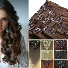 Real Thick Clip In Hair Extensions 18 Clips On Hair Extension Human Favored TG5