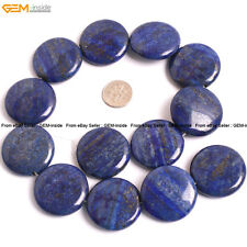 "Natural Stone Genuine Lapis Lazuli Gem Beads For Jewelry Making 15"" Coin"
