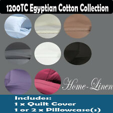 1200TC EGYPTIAN COTTON Quilt/Doona/Duvet Cover Set King/Queen/Double/Single size