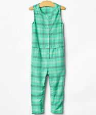 NWT BabyGap Girls Green Plaid Romper Size 2 & 3