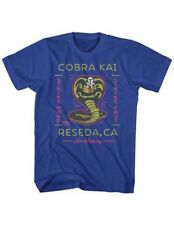 T-Shirts Sizes S-2XL New Authentic Mens Karate Kid Neon Cobra 2 Retro T-Shirt