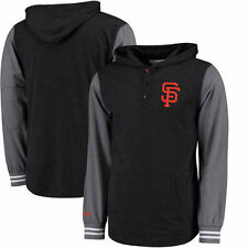 San Francisco Giants Mitchell & Ness Mid-Season Hoodie - Black/Charcoal - MLB