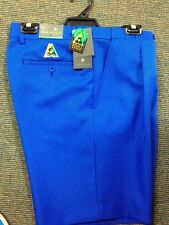 NEW Mens Lawn Bowls BA logo Shorts CITY CLUB Flexi Waist Belt Loop ROYAL BLUE