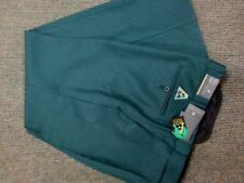 NEW Mens Lawn Bowls BA logo Trousers CITY CLUB Flexi Waist with Belt Loop GREEN