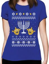 Ugly Christmas Hanukkah Sweater Happy Holidays Women T-Shirt Gift