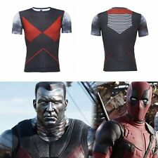 Mens 3D Comic Compression Tee T-shirt Super Colossus Cosplay Sport Top Clothing