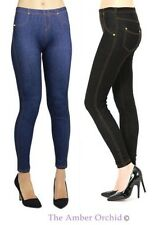 Womens Ladies Plus Size Denim Jeggings Stretchy Skinny Jeans Pants Trouser