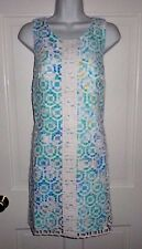 NWT LILLY PULITZER WHITE GEO MACRAME LACE ROSALIE SHIFT DRESS 6 8 10 12 14 16