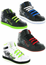 New Boys Kids Ankle Hi Top Baseball Boots Skate Mercury Trainers Size 13-6 UK
