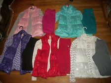 FADED GLORY 3 PC TOP SEQUIN PUFFER VEST KNIT PANTS SET GIRLS OUTFIT SZ XL 14 16