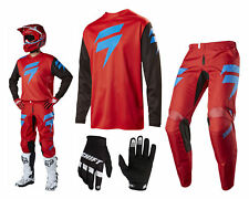 Shift Whit3 Ninety Seven MX Combo Motocross Enduro Cross Trousers and Jersey red