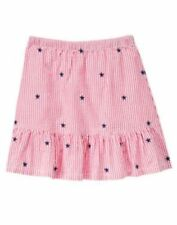 NWT Gymboree 4th of July Red White and Blue Striped Stars Skirt Size 4